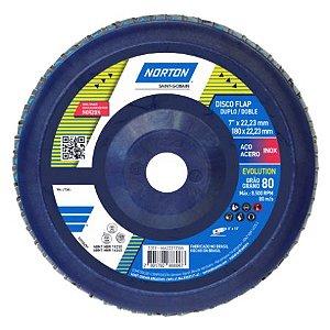 DISCO FLAP P80 ORIGINAL 180X22 - NORTON