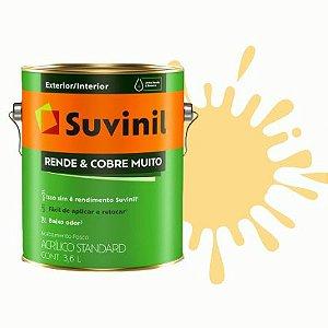 TINTA ACRÍLICA RENDE COBRE MUITO AMARELO CANÁRIO 3,6L - SUVINIL