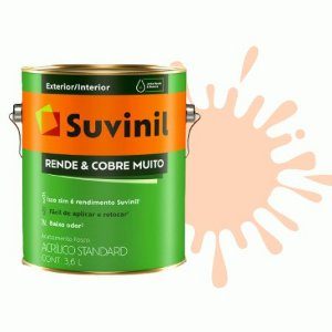 TINTA ACRÍLICA RENDE COBRE MUITO PÊSSEGO 3,6L - SUVINIL