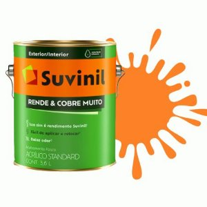 TINTA ACRÍLICA RENDE COBRE MUITO TANGERINA 3,6L - SUVINIL