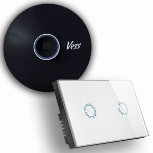 Kit Base Vess Home-pro + Interruptor Softtouch - 2 Teclas