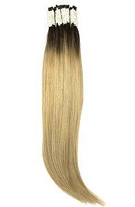 Cabelo Humano Liso Loiro Ombré Hair Dourado 60/65 cm 50 Gramas