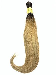 Cabelo Humano Liso Ombré Hair Loiro Mesclado  50 / 55 Centímetros 50 Gramas