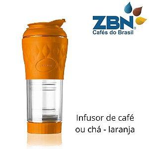PRESSCA CAFETEIRA E INFUSOR DE CHÁ 350ml - COR LARANJA