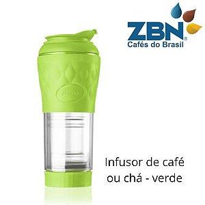 PRESSCA CAFETEIRA E INFUSOR DE CHÁ 350ml - COR VERDE