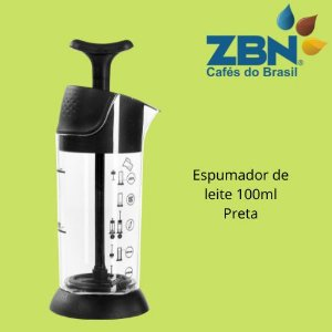 PRESSCA ESPUMADOR DE LEITE 100ml - PRETA