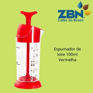 PRESSCA ESPUMADOR DE LEITE 100ml - VERMELHA