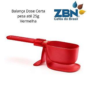PRESSCA BALANÇA DOSADORA PARA CAFÉ OU CHÁ ATÉ 25g- VERMELHA