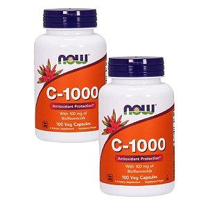 Kit 2 Vitamina C-1000 - 100 Capsulas -  NOW FOODS