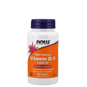VITAMINA D3 1000UI NOW FOODS 180 CAPS - Day Offer