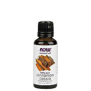 Óleo Essencial Cinammon Cassia (Canela Cassia) 30 ml - 100% Puro - NOW FOODS