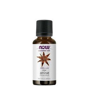Óleo Essencial Star Anice (Anis Estrelado) 30 ml - 100% Puro - NOW FOODS