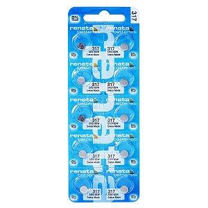 10 Pilhas Baterias 317, Relógio 1.55v Renata Sr516s Original