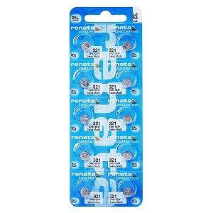 10 Pilhas Baterias 321, Relógio 1.55v Renata Sr616s Original