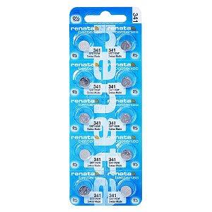 10 Pilhas Baterias 341, Relógio 1.55v Renata Sr714s Original