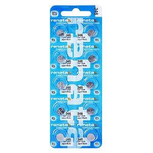 10 Pilhas Baterias 346, Relógio 1.55v Renata Sr712s Original