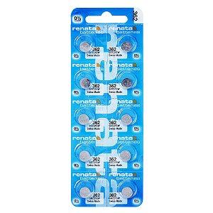 10 Pilhas Baterias 362, Relógio 1.55v Renata Sr721s Original