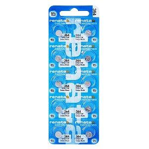 10 Pilha Bateria 364 1.55v Renata Sr621s 01 Cart C 10 Und