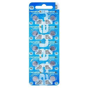 10 Pilhas Baterias 373, Relógio 1.55v Renata Sr916s Original