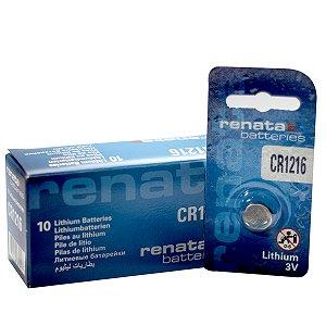 10 Pilhas Baterias 1216, Relógios 3v Renata Cr1216 Original