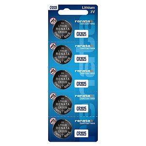 05 Baterias Pilhas Renata Cr2025 1 Cartela