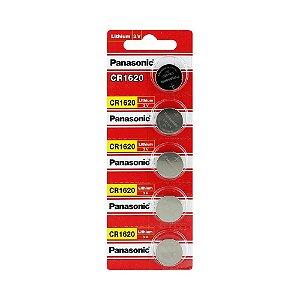 05 Pilhas Baterias Cr1620 3v Panasonic 01 Cartela