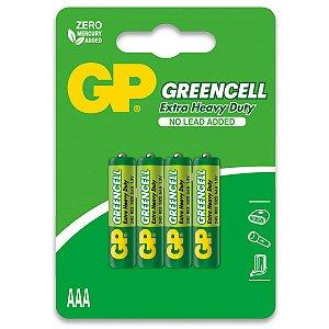 04 Pilhas AAA Palito Comum Zinco Gp GREENCELL 01 Cartela