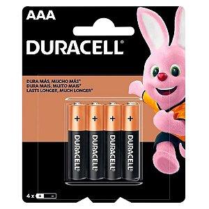 4 Pilhas AAA Palito Duracell Duralock Alcalina Embalagem C/4 Unids