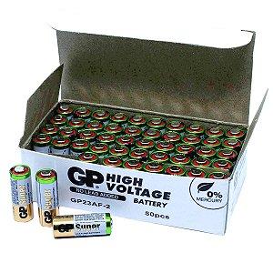 50 Pilhas Bateria 23a 12v A23 Gp Controle Alarme Portão Bulk