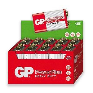 10 Pilhas Bateria 9v Comum Gp Zinco Carvão 1 Cx C/ 10 Unid