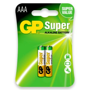 02 Pilhas AAA Palito Alcalina Gp Super 1 Cartela