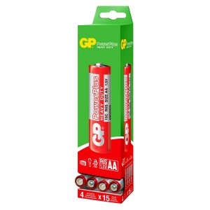 60 Pilhas AA Pequena Comum Powerplus Gp Zinco 01 Caixa Com 60 Unid