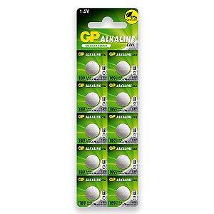 10 Pilha Gp Super Lr1130 189 Lr54 Bateria Alcalina 1 Cartela