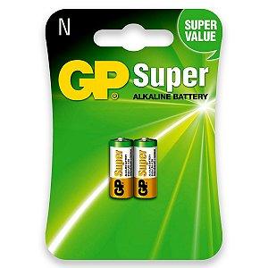 02 Pilhas Tipo N Lr1 Alcalina Gp Super - 01 Cartela C/ 2 Unid