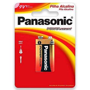 01 Pilha Bateria 9v Alcalina Panasonic 1 Cartela