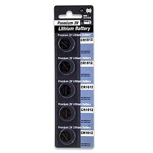 05 Pilhas Panasonic Cr1612 3v Bateria Original 1 Cartela