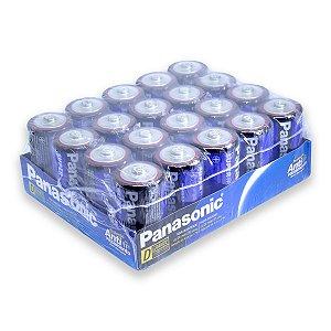 20 Pilhas D Grande Comum Zinco Carvão Panasonic 1 Bandeja