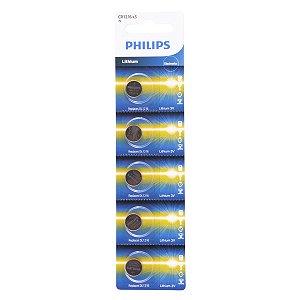 05 Pilhas Philips Cr1216 3v Bateria Original - 01 Cartela