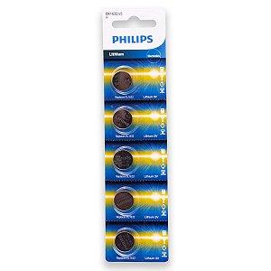 05 Pilhas Philips Cr1632 3v Bateria Original - 01 Cartela
