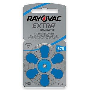 06 Pilhas Baterias 675 Pr44 Aparelho Auditivo Rayovac