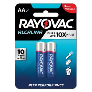 04 Pilhas AA Pequena Alcalina Rayovac 1 Cartela C/ 4 Unid