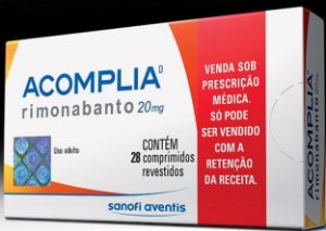 Acomplia rimonabant 20mg 28 comprimidos