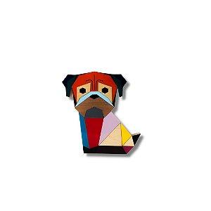 Escultura Pug Origami Colors