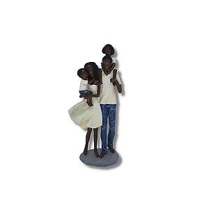 Escultura Família 4 pessoas