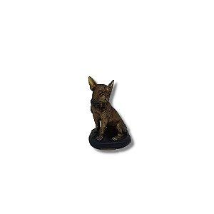 Escultura Bulldog Dourado