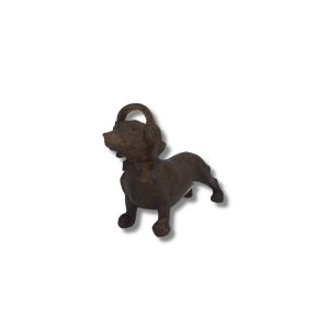 Escultura Cachorro Salsicha com Headphone