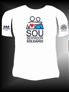 """Camisa """"Sou Servidor Solidário"""" Branca"""