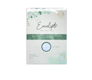 Bloco de Papel Eucalipto - 100% Eucalipto 12 fls | 320g/m2 | Formato A4