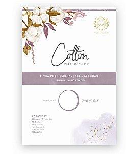 Bloco de Papel Cotton - 100% Algodão 12 fls| 300g/m2 | Formato A4