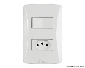Interruptor Petra 1 Simples + 1 Tomada 10A s